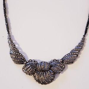 Jewelry - Vintage antique silver 1920s necklace bridal